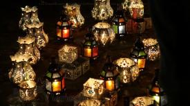 viajar a Marrakech y Jamaa El Fna lámparas